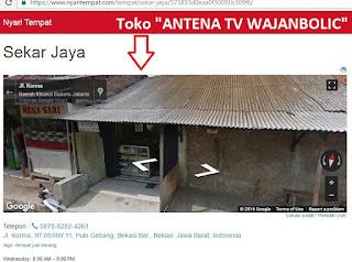 toko Antena Tv Wajanbolic Bekasi dan Toko Sekar Jaya Bekasi