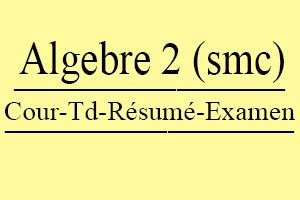 Algèbre 2 S2 (SMC) Cours // Td Et Exercices // Résumés // Examens