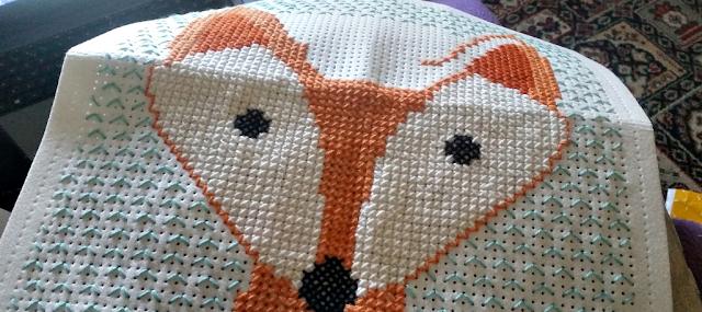 My fox cross stitch