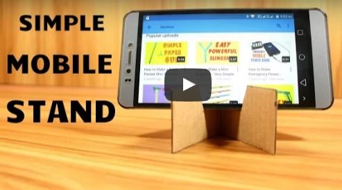 [How to]: Πως να φτιάξεις βάση για κινητό με ένα κομμάτι χαρτόνι