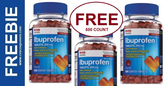 FREE Big Bottle of Ibuprofen Tablets at CVS