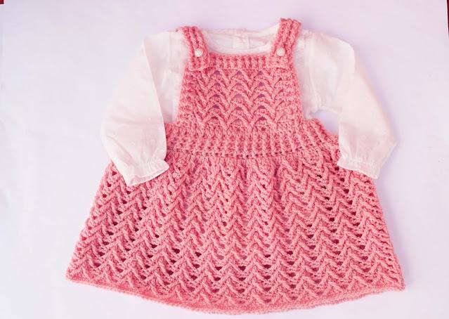2 - Crochet Imagen Falda con peto a crochet y ganchillo por Majovel Crochet