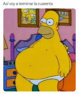 Hombre Simpson muy muy gordo