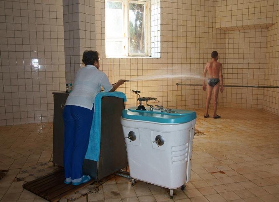Душ Шарко в санатории Горный в Крыму