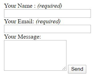 formulario de contacto de blogger