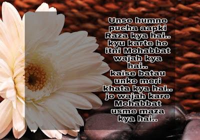 Unse humne pucha - Love Shayari