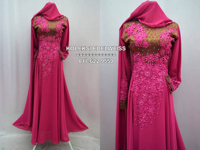 songket pink gold