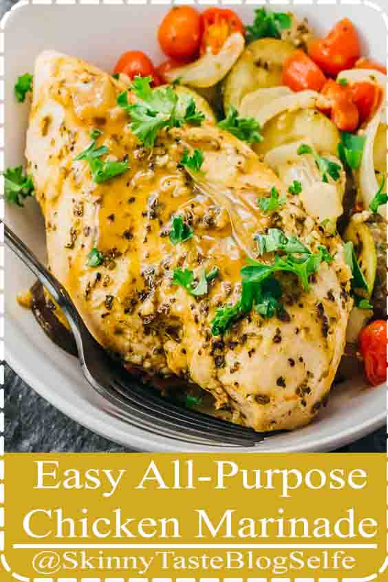 4.8 | ★★★★★ This is the best chicken marinade recipe, whether you re looking to marinate chicken for the grill or bbq, crockpot, or oven. Its very easy, quick, and simple to make, with Greek flavors and Italian inspired ingredients like olive oil, lemon, herbs, and garlic. Its also healthy, keto, low carb, paleo, and whole 30. After marinating, I make oven baked chicken breasts with zucchini and tomatoes for a Mediterranean homemade meal. #lowcarb #keto #healthy #paleo#dinner