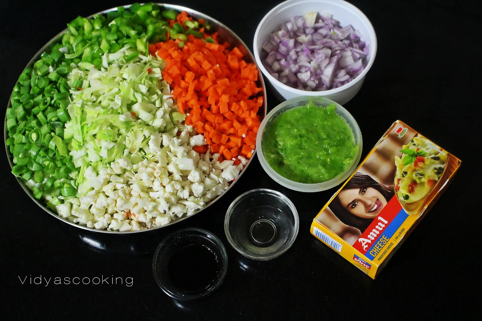 Vidyascooking: Mixed Vegetable Chilly Cheese Baozi