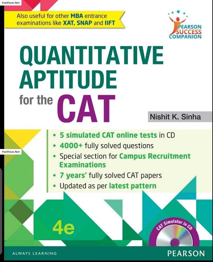 Quantitative Aptitude for the CAT by Pearson eBook PDF Download