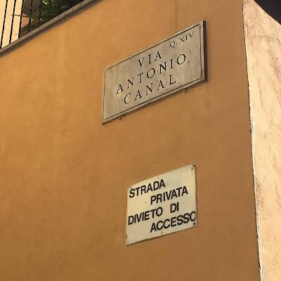 Via Antonio Canal targa
