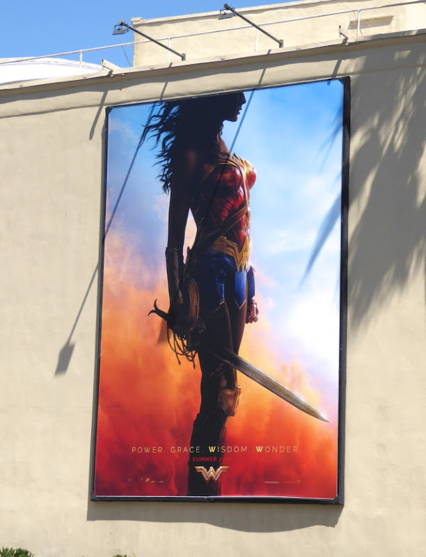 Wonder Woman film teaser billboard