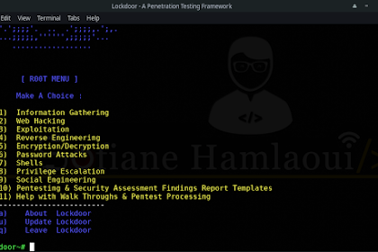 Lockdoor Framework - A Penetration Testing Framework With Cyber Security Resources