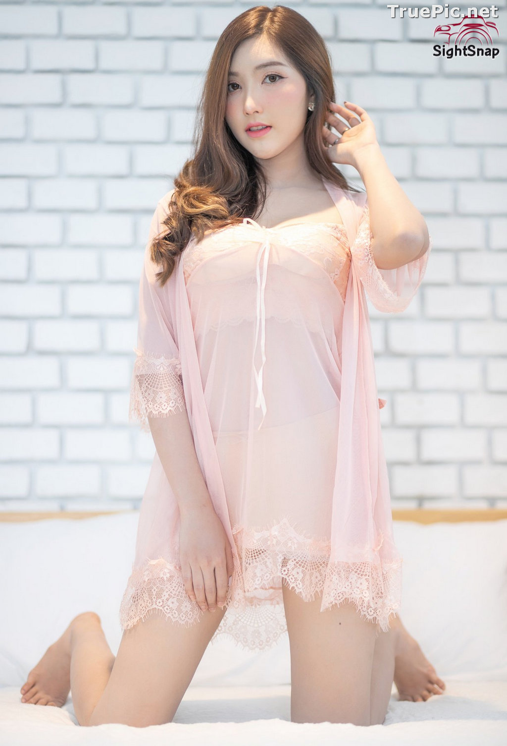 Image Thailand Model - Luc Kie - Nice Pink Love Night Dress - TruePic.net - Picture-2