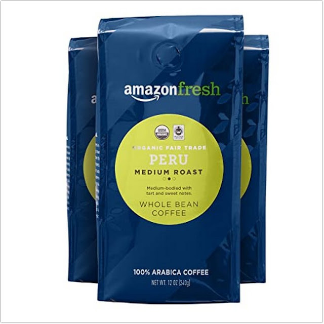 AmazonFresh Organic Fair Trade Peru;Organic Coffee Brands;