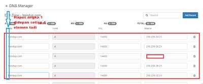 Cara Setting Dns domain exabytes Ke Blogspot