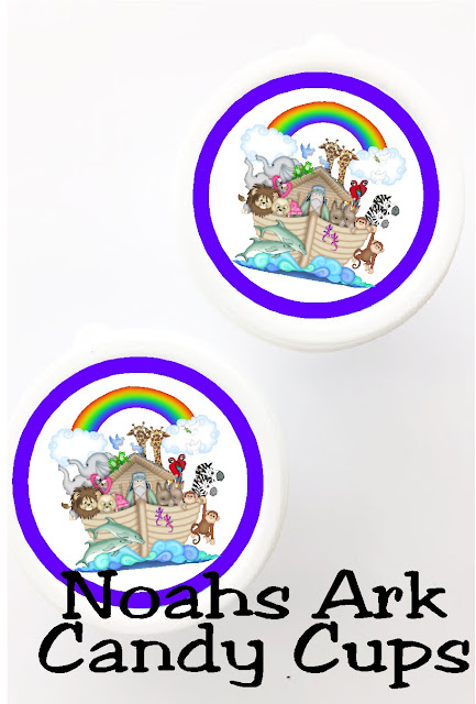 Use these cute 2 inch printables as Noah's Ark party favors or as cupcake toppers for the perfect little treat at your Noah's Ark party.