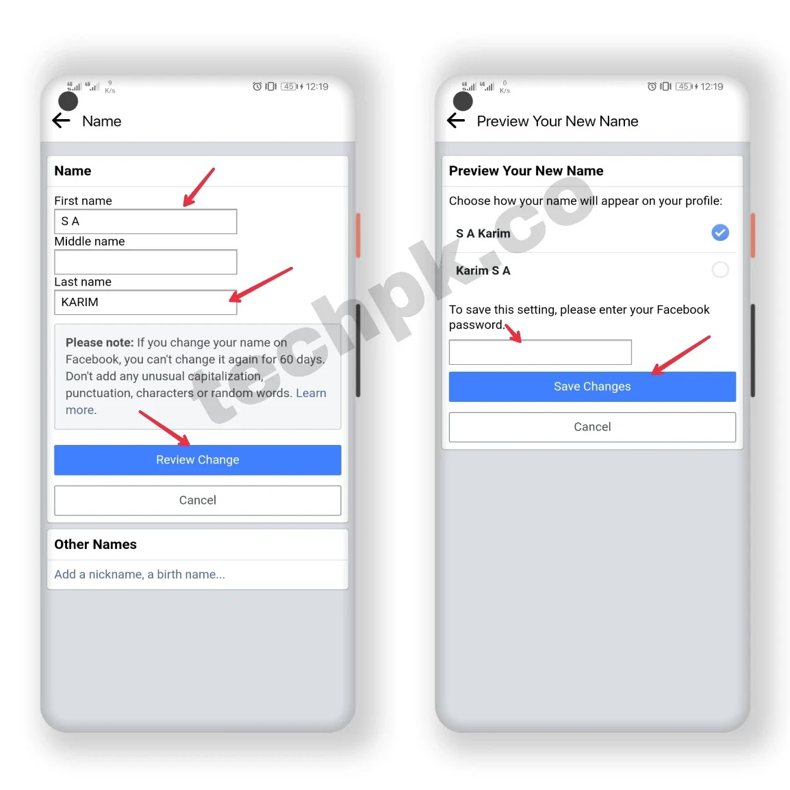 how to change name on facebook 2021