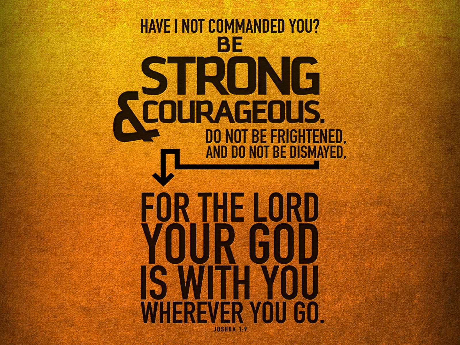 Be Strong and Courageous | Inspirational Quotes | HNQuotes