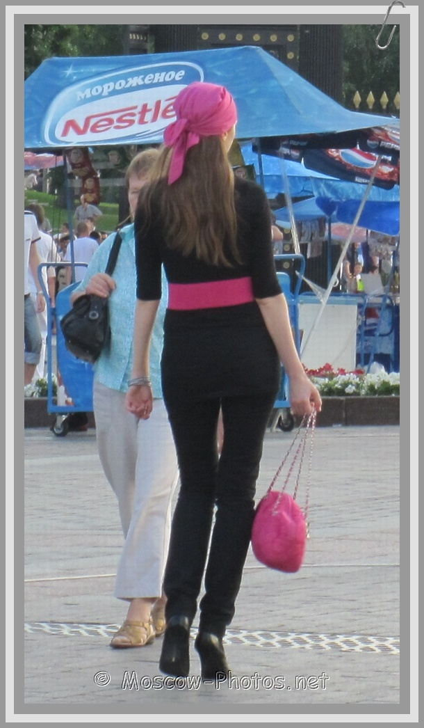 Summer glamour pink-black suit