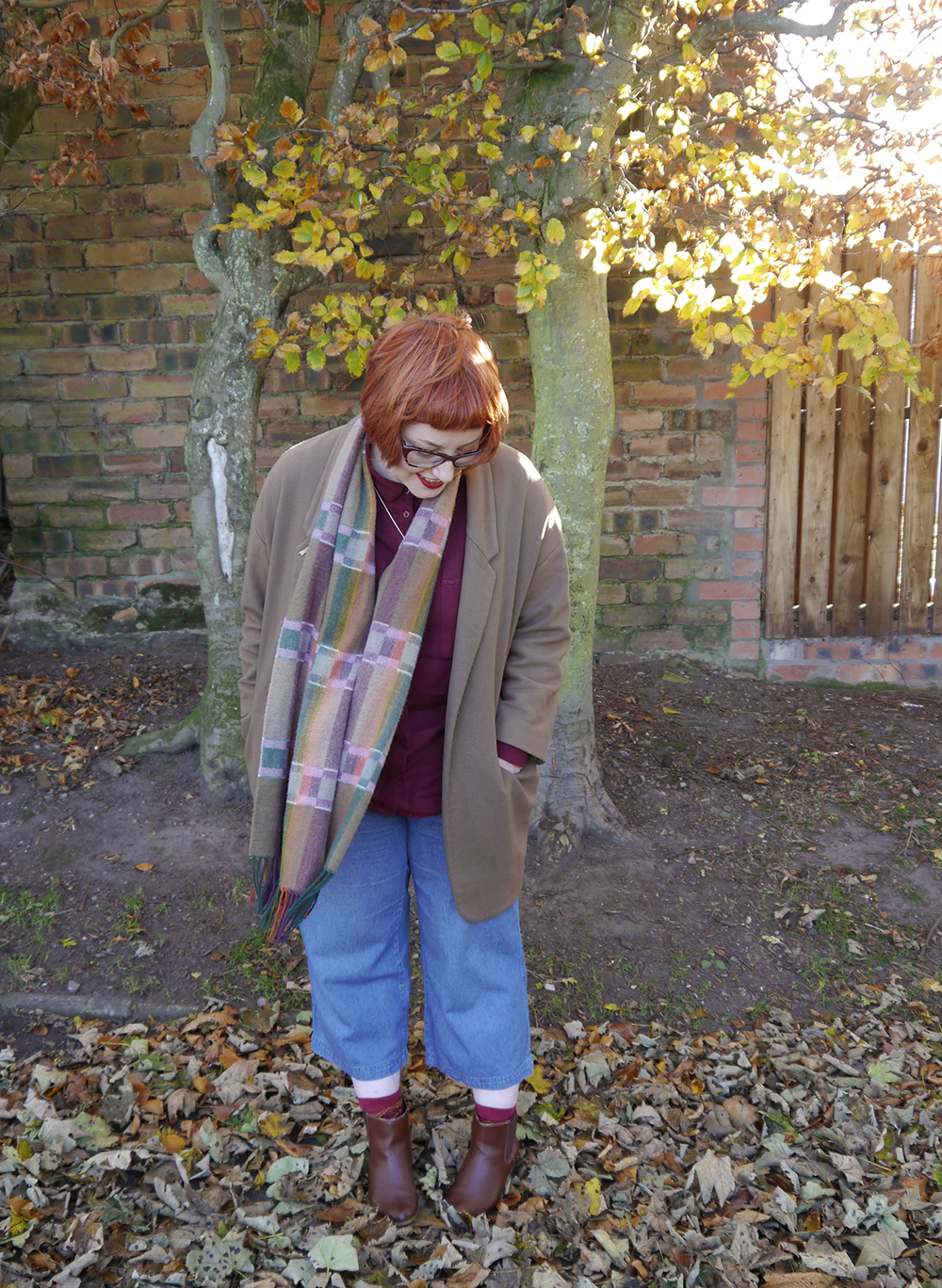 Dressing for the cold with autumn colours and layers