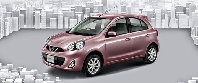 GAMBAR NISSAN MARCH PINK