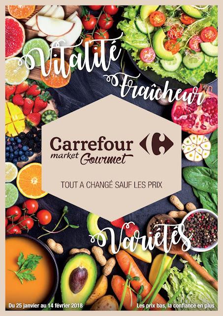 catalogue carrefour gourmet janvier fevrier 2018