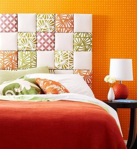 A mi manera c mo hacer una cabecera de cama - Decorar cama con cojines ...