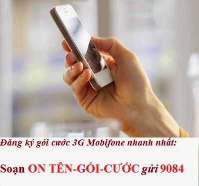 Các gói cước 3G Mobifone 2015