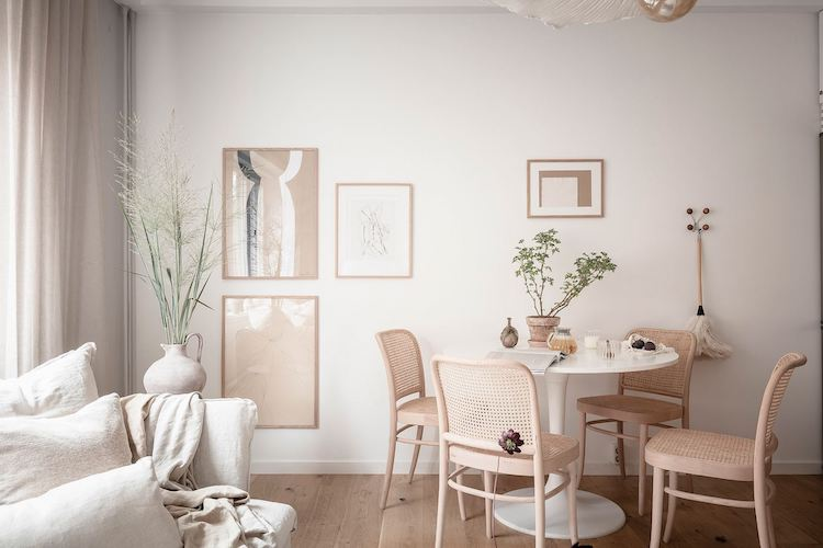 White and The perfect Light In A Small Swedish Studio