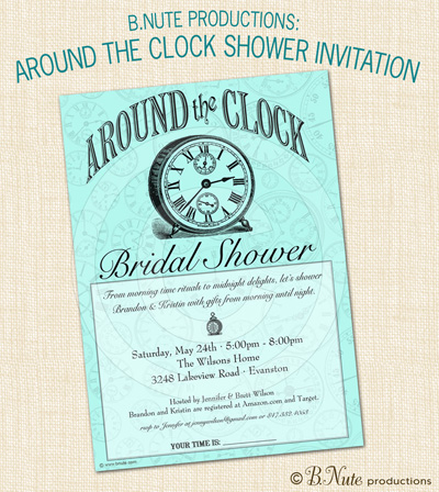 bnute productions: Around the Clock Bridal Shower
