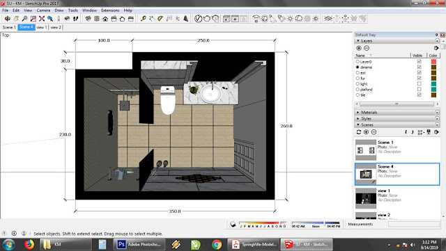 sketchup orthographic view