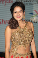 Jenny in brown transparent sleeveless anarkali dress at Shamanthakamani pre release function ~  Exclusive 038.JPG