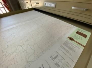 Map file cabinet at SDSL