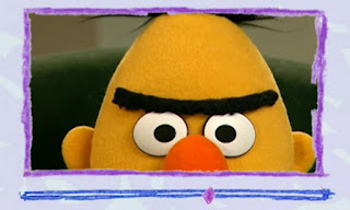 Bert gets angry at Ernie for surprising him while reading. These are angry eyebrows and he looks angry. Elmo's World Eyes Video E-Mail