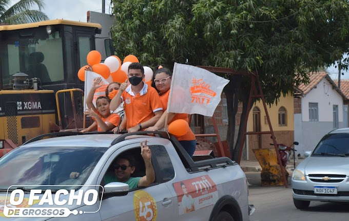 Carreata do candidato a vereador Amickaelson Santos