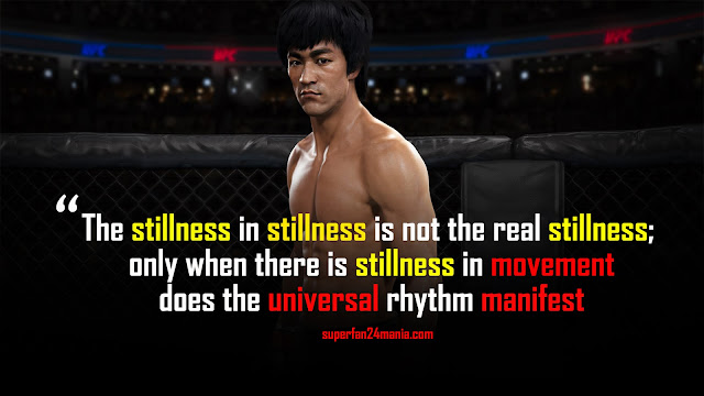 The stillness in stillness is not the real stillness; only when there is stillness in movement does the universal rhythm manifest