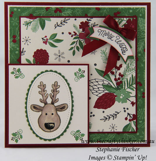 Stampin Up, #thecraftythinker, Stitched Shapes Framelits, Cookie Cutter Christmas, Xmas Card, Stampin Up Australia Demonstrator, Stephanie Fischer, Sydney NSW