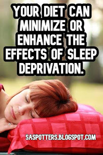 Quote about the connection between a healthy diet and sleep deprivation in students