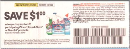 "Pine Sol 24oz + Coupon from ""SMARTSOURCE"" insert week of 1/5/20."