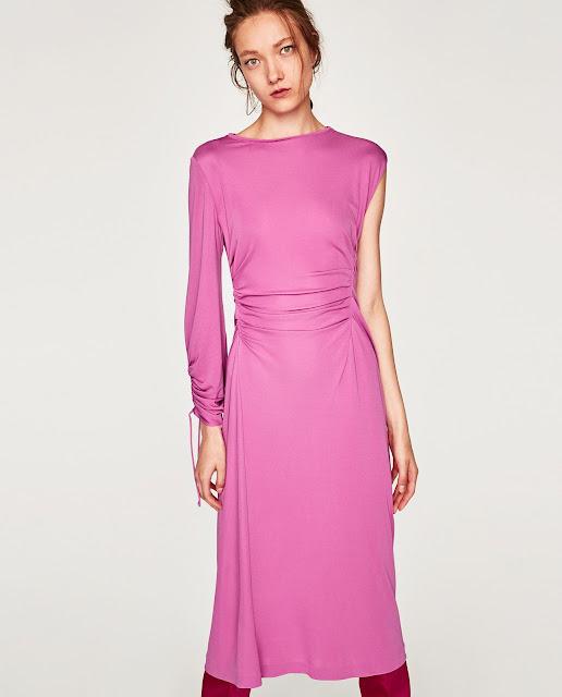 Елегантна рожева сукня