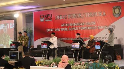 Debat Putaran Pertama Calon Bupati Purworejo 2020
