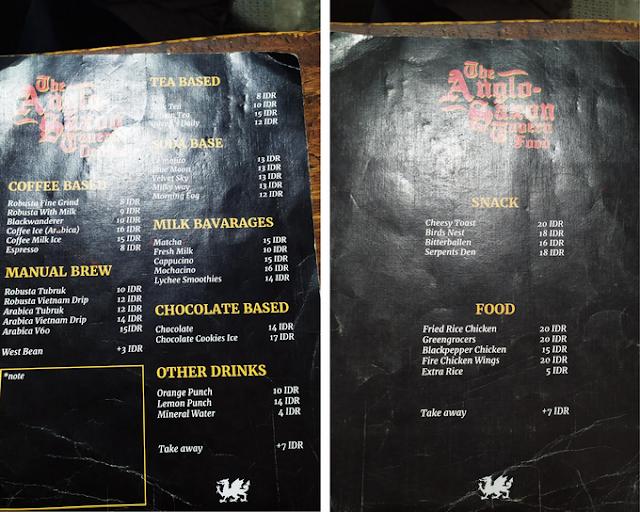 menu anglo saxon