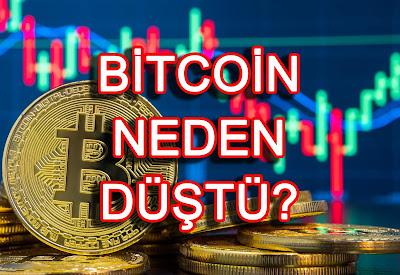 bitcoin neden sert düştü