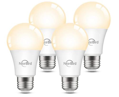 Nitebird Dimmable Smart Light Bulbs Work with Alexa