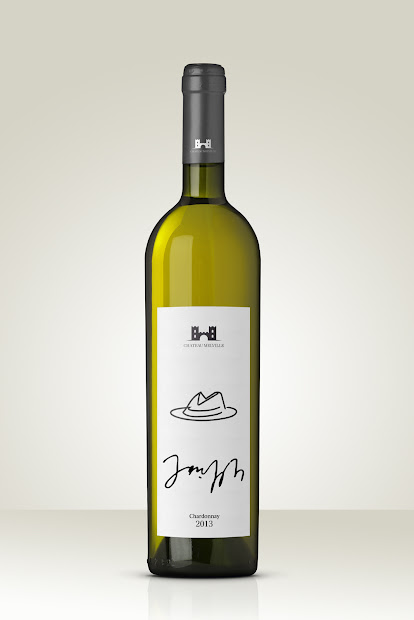 White Wine Label with Picture