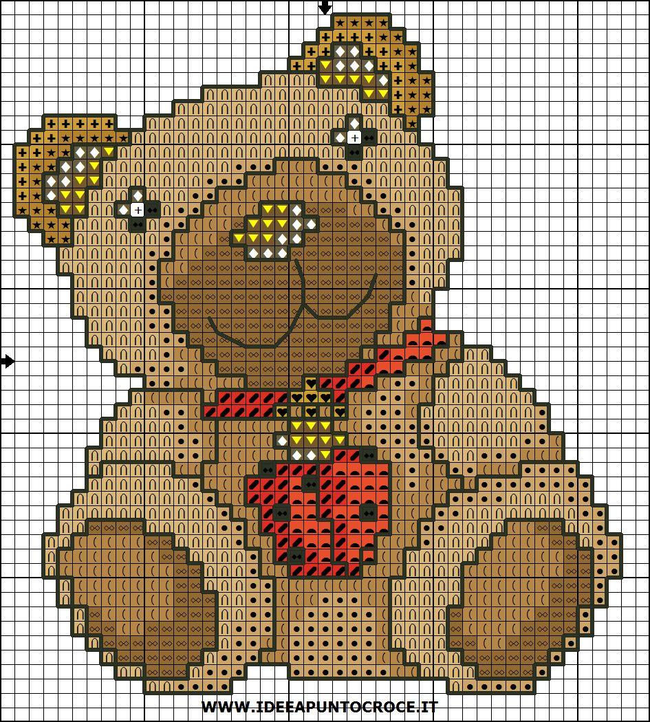 Thun schemi punto croce teddy thun schemi punto croce for Schema punto croce orsetto