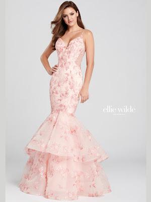 Ellie Wilde Mermaid pink Prom Dress