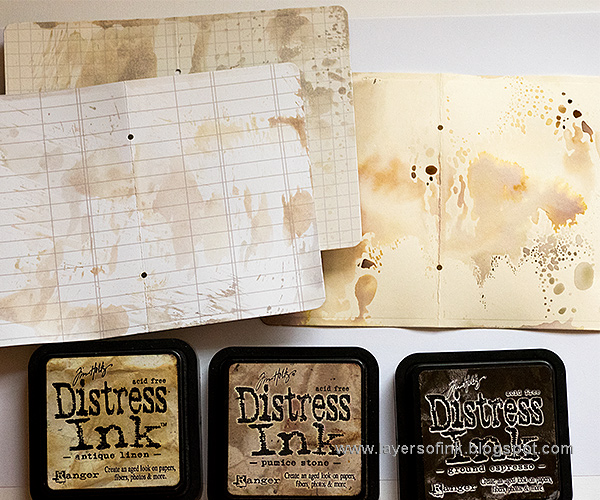 Layers of ink - Everyday Mini Book Sizzix Tutorial by Anna-Karin with dies by Lynda Kanase.