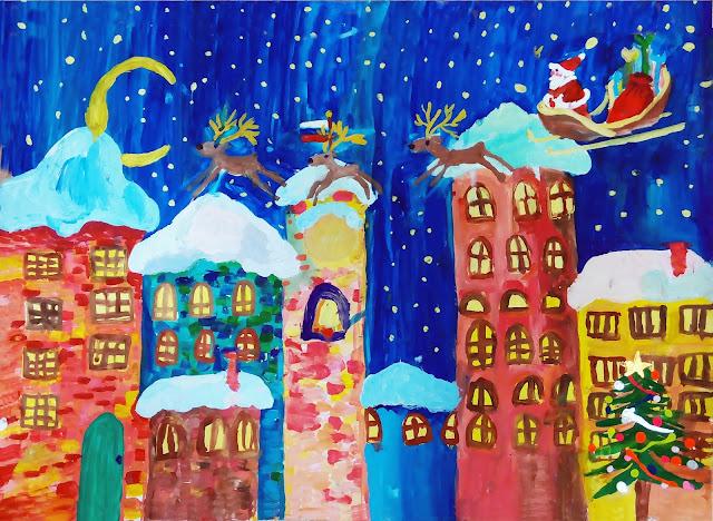 """рисунок Насти """"Новогодняя сказка"""""""